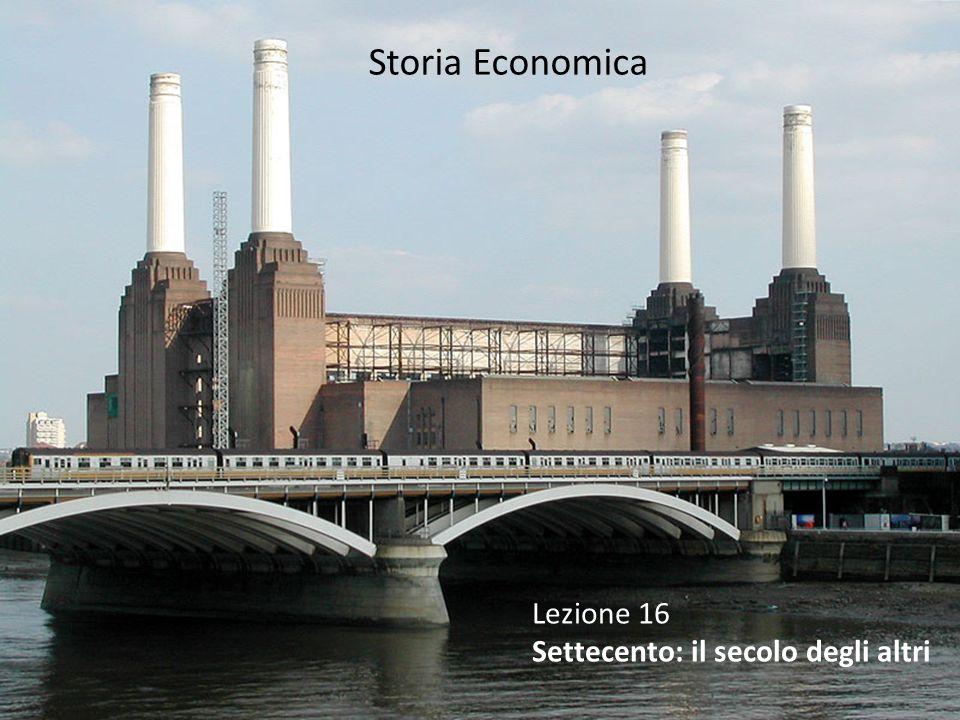 Vista di uno zuccherificio dismesso Inghilterra: oltrepassa la soglia dell'industrializzazione prima degli altri paesi europei, che subiscono tuttavia cambiamenti importanti.