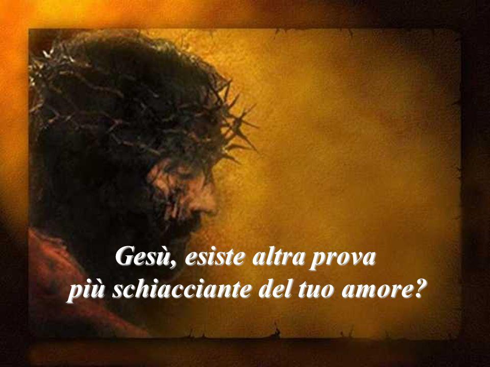 Gesù, esiste altra prova più schiacciante del tuo amore? più schiacciante del tuo amore?
