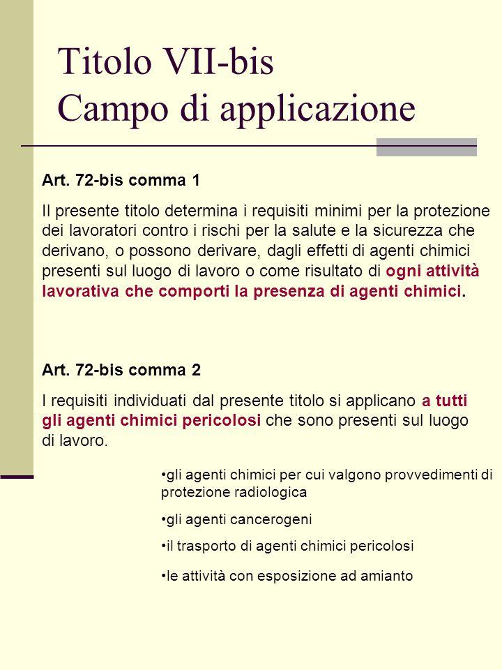 Titolo VII-bis Campo di applicazione Art.