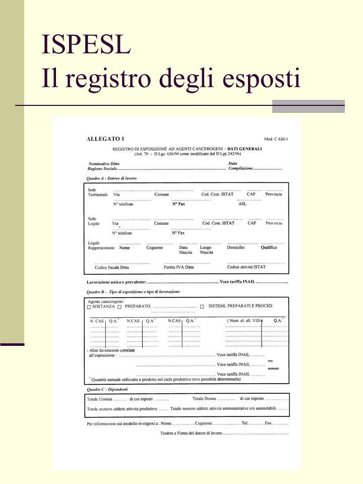 ISPESL Il registro degli esposti