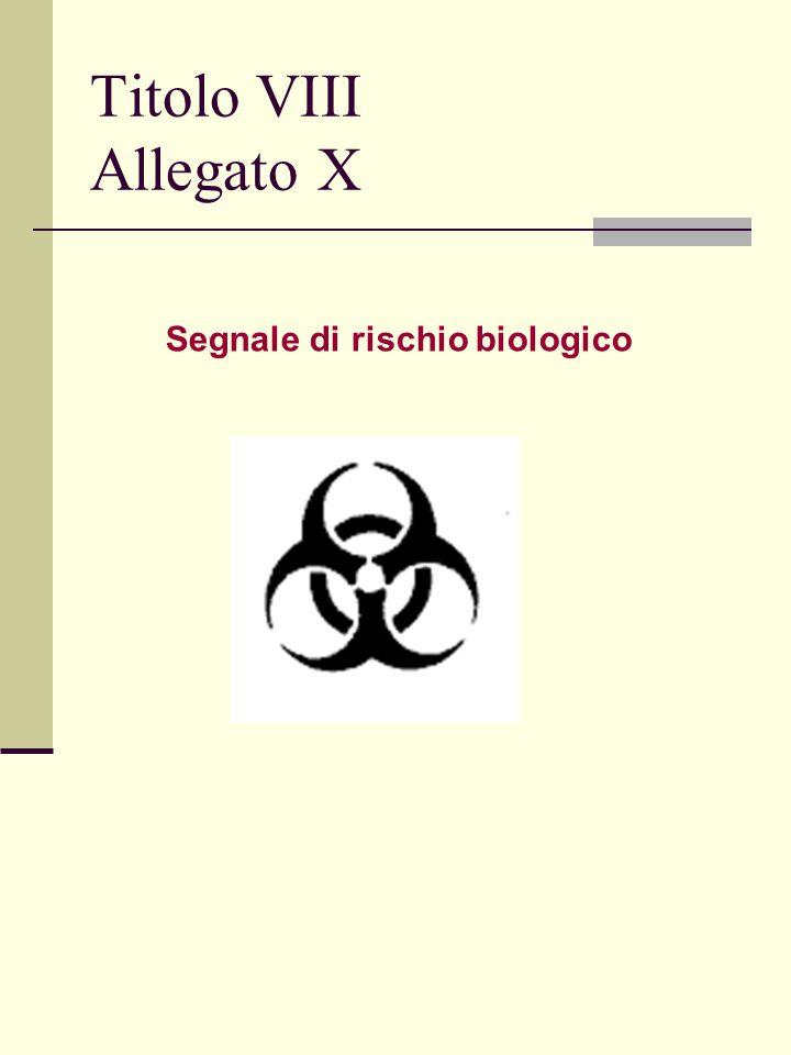 Titolo VIII Allegato X Segnale di rischio biologico