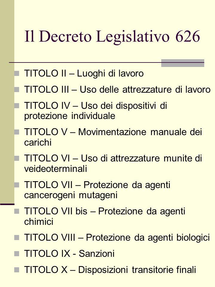 Titolo VII Misure tecniche, organizzative, procedurali Sostituzione dell'agente cancerogeno Utilizzazione dell'agente in un sistema chiuso.
