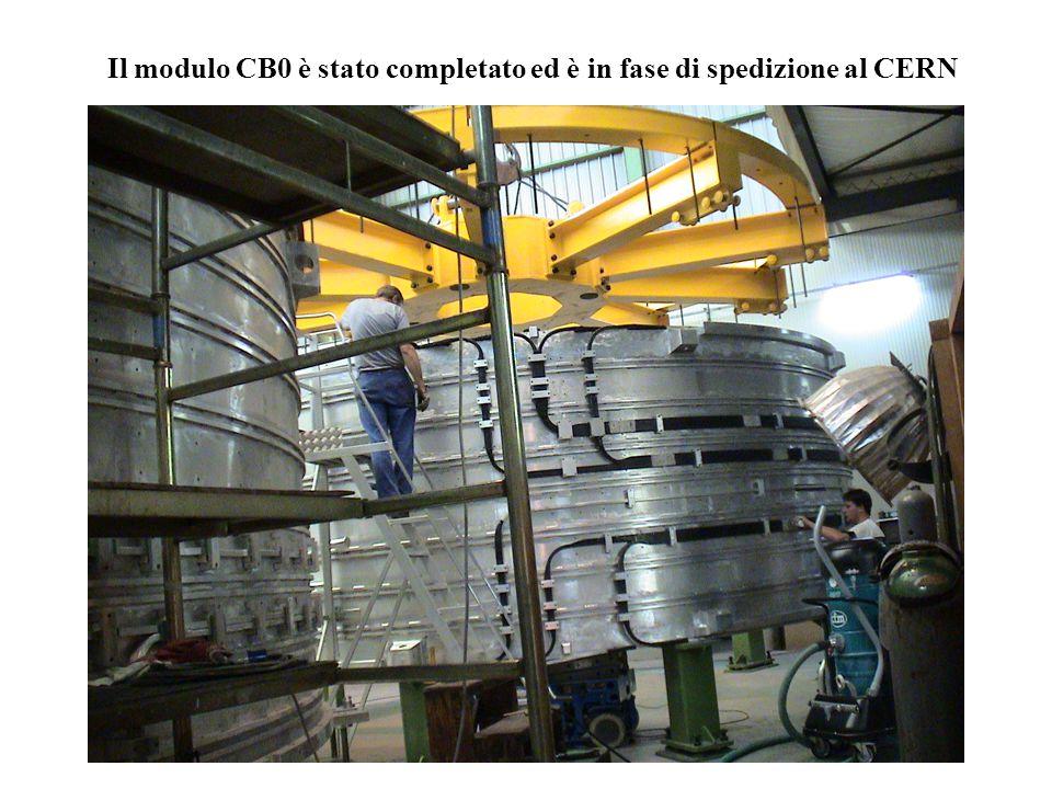 Il modulo CB+1 è in fase di completamento. Sarà spedito in Ottobre