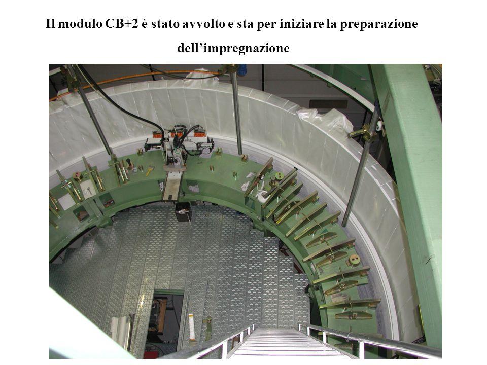 Il modulo CB+2 è stato avvolto e sta per iniziare la preparazione dell'impregnazione