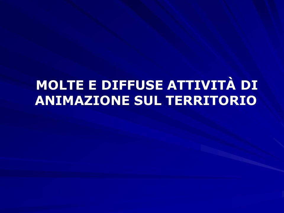 MOLTE E DIFFUSE ATTIVITÀ DI ANIMAZIONE SUL TERRITORIO