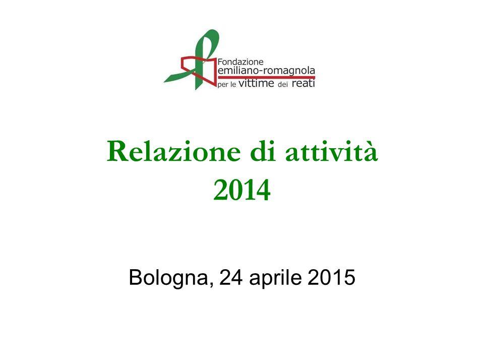 Relazione di attività 2014 Bologna, 24 aprile 2015
