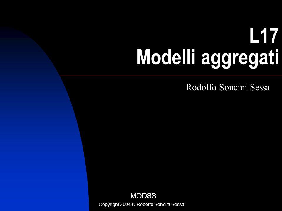 R. Soncini Sessa, MODSS, 2004 1 L17 Modelli aggregati Rodolfo Soncini Sessa MODSS Copyright 2004 © Rodolfo Soncini Sessa.