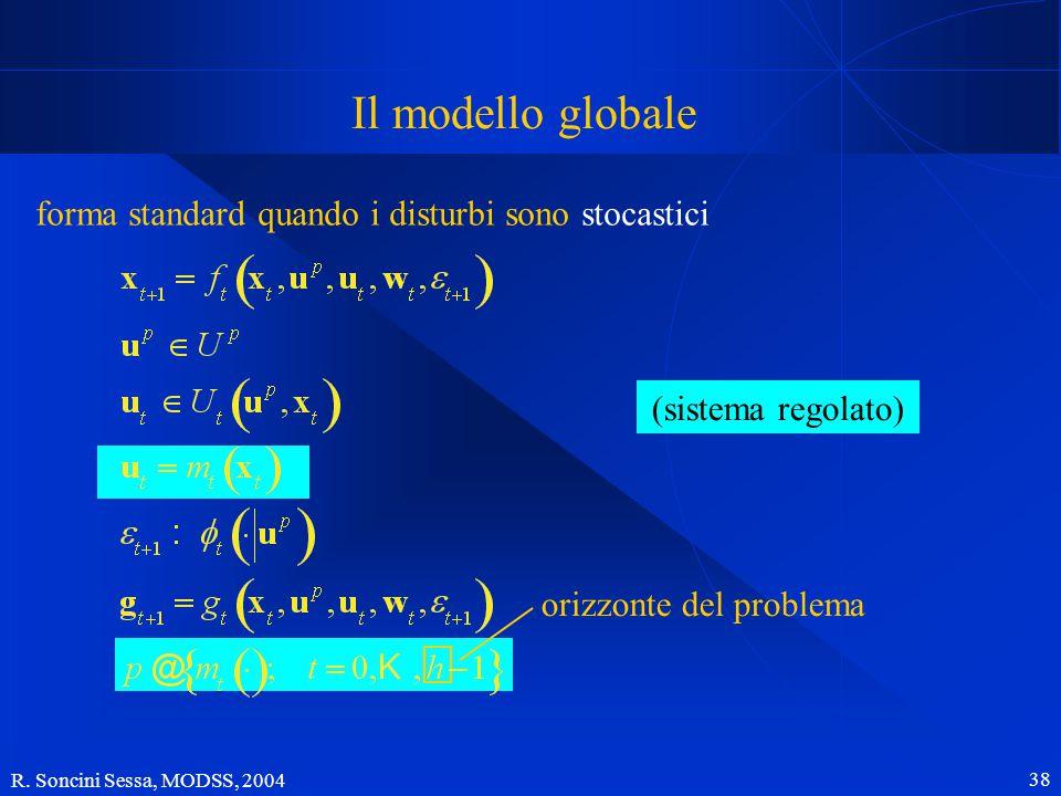 R. Soncini Sessa, MODSS, 2004 38 Il modello globale forma standard quando i disturbi sono stocastici (sistema regolato) orizzonte del problema