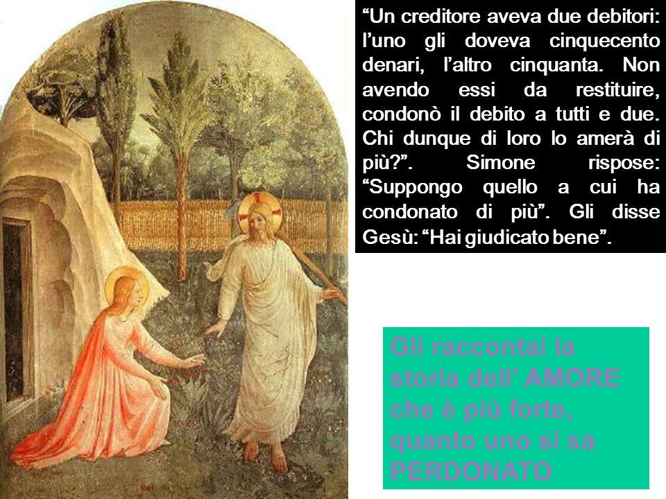 Gesù allora gli disse: Simone, ho una cosa da dirti .