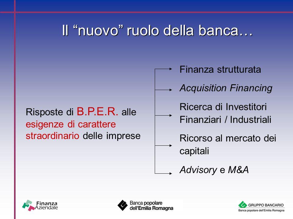 Il nuovo ruolo della banca… Risposte di B.P.E.R.