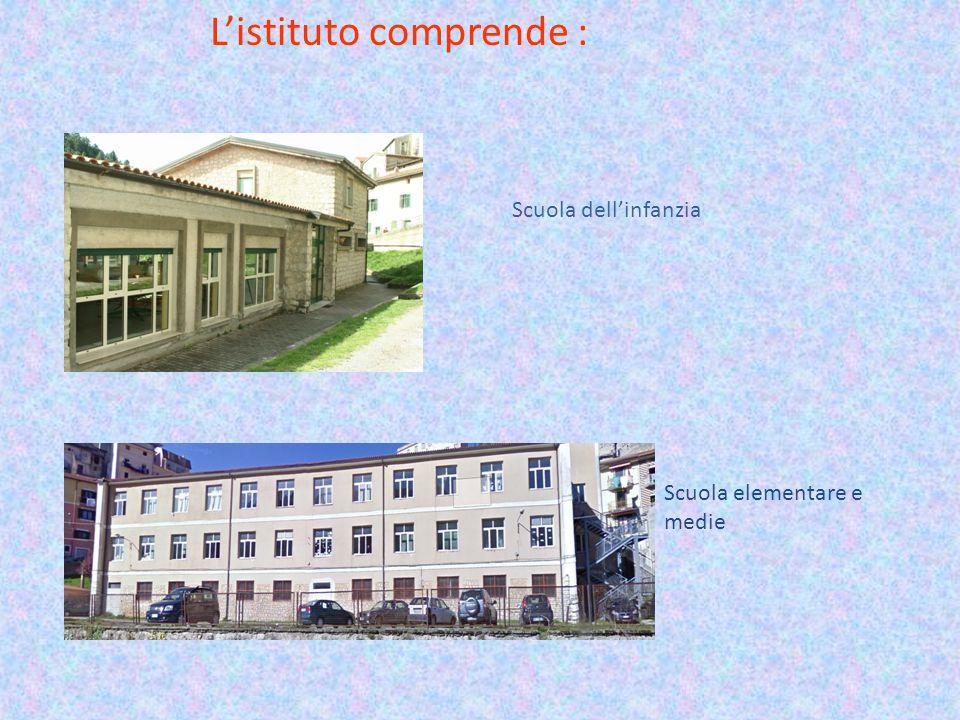 L'istituto comprende : Scuola dell'infanzia Scuola elementare e medie