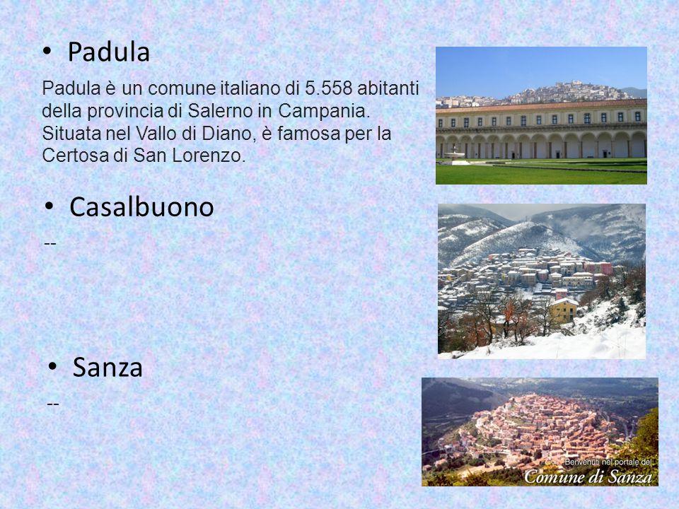 Padula Padula è un comune italiano di 5.558 abitanti della provincia di Salerno in Campania.