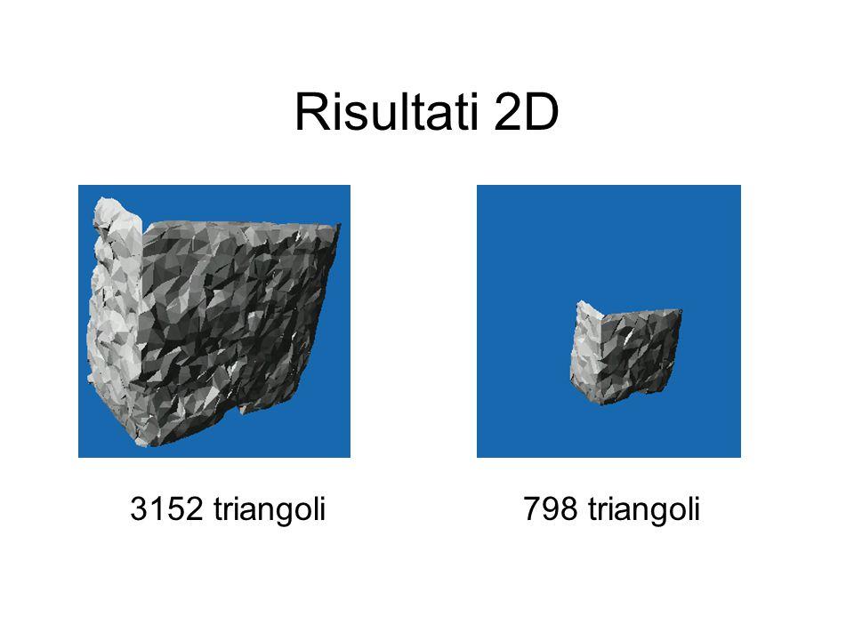 Risultati 2D 3152 triangoli 798 triangoli
