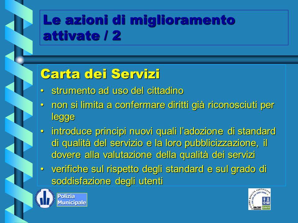Le azioni di miglioramento attivate / 1 Procedura raccolta reclami e osservazioni dei cittadiniProcedura raccolta reclami e osservazioni dei cittadini