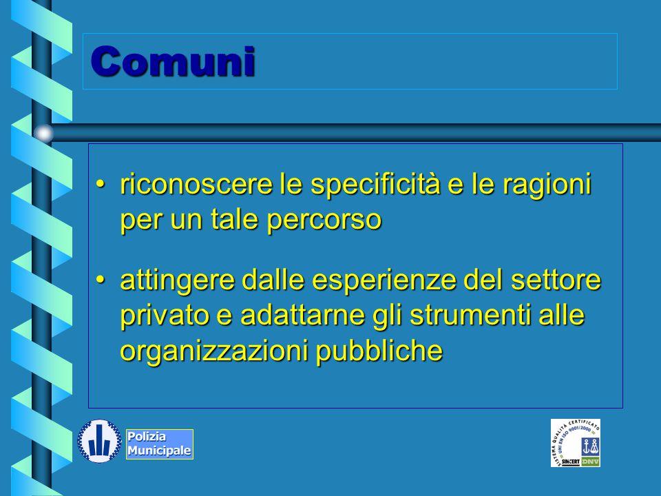 Perché certificare un servizio pubblico? –rapporto corretto tra cittadino e pubblica amministrazione –massima attenzione ai risultati delle attività s