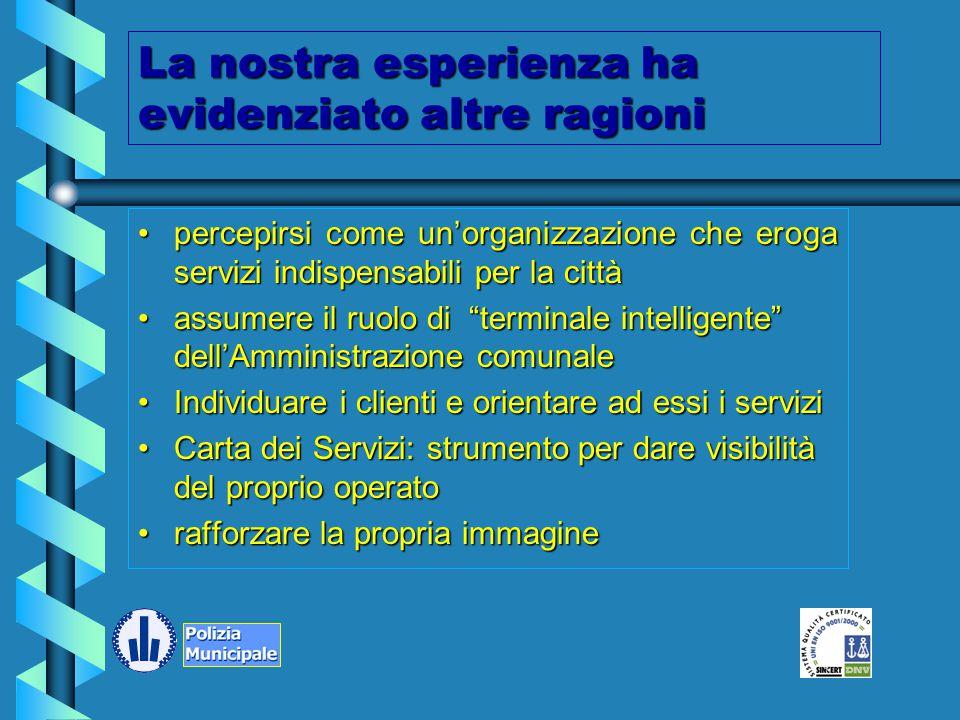 Comune di Modena Proporre la Polizia Municipale alla città e ai suoi utilizzatori omogenea nelle sue modalità di azioneomogenea nelle sue modalità di