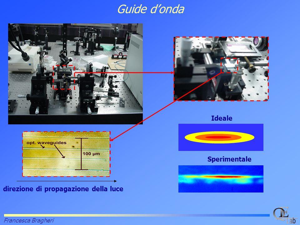 Francesca Bragheri Guide d'onda Ideale Sperimentale direzione di propagazione della luce