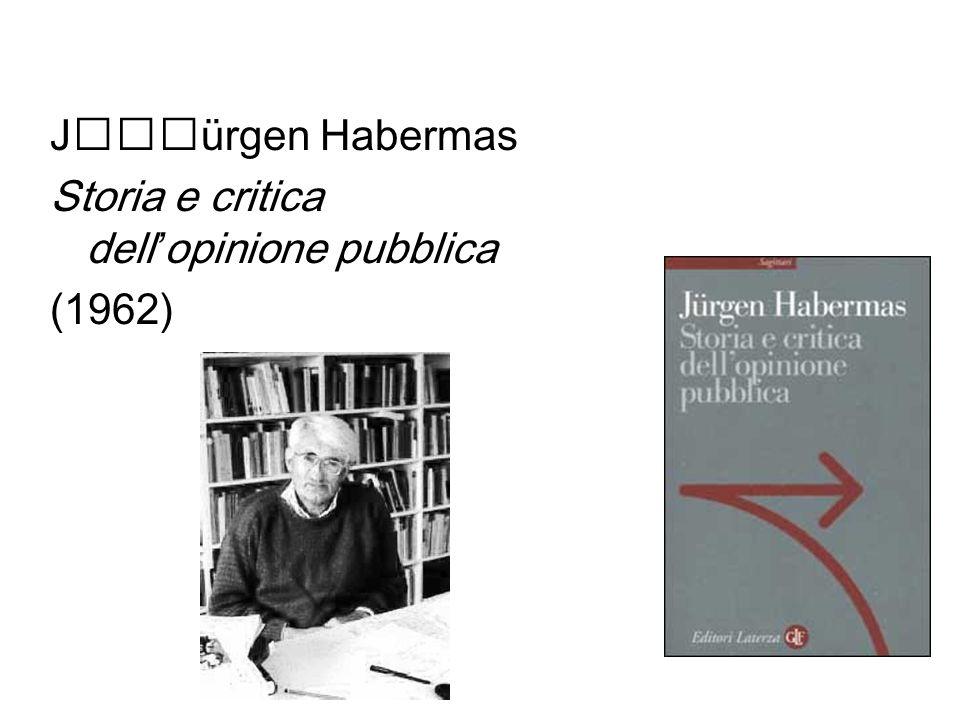 Jürgen Habermas Storia e critica dell'opinione pubblica (1962)
