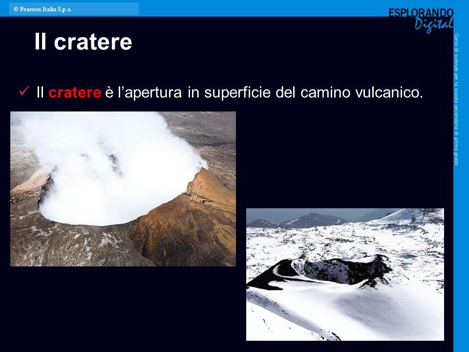 Il cratere Il cratere è l'apertura in superficie del camino vulcanico. © Pearson Italia S.p.a.