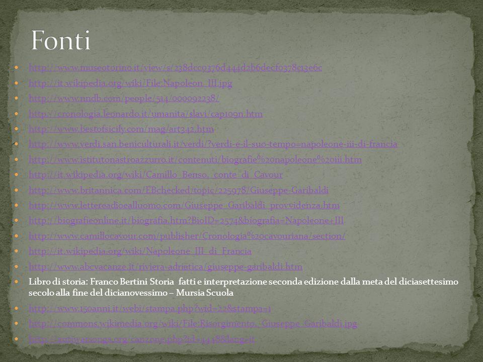 http://www.museotorino.it/view/s/238dcc0376d444d2b6decf0378c13e6c http://it.wikipedia.org/wiki/File:Napoleon_III.jpg http://www.nndb.com/people/514/00