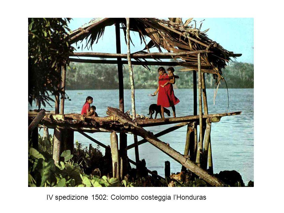IV spedizione 1502: Colombo costeggia l'Honduras