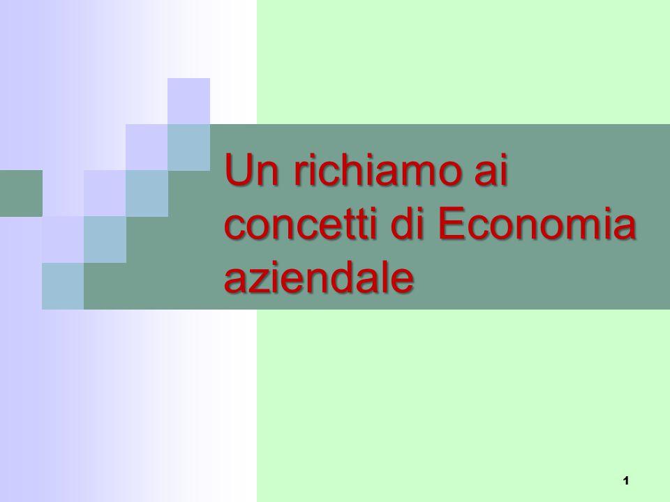 1 Un richiamo ai concetti di Economia aziendale