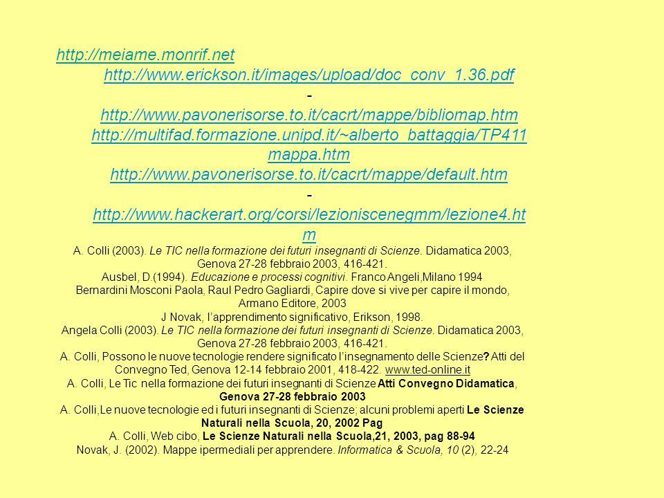 http://meiame.monrif.net http://www.erickson.it/images/upload/doc_conv_1.36.pdf - http://www.pavonerisorse.to.it/cacrt/mappe/bibliomap.htm http://multifad.formazione.unipd.it/~alberto_battaggia/TP411 mappa.htm http://www.pavonerisorse.to.it/cacrt/mappe/bibliomap.htm http://multifad.formazione.unipd.it/~alberto_battaggia/TP411 mappa.htm http://www.pavonerisorse.to.it/cacrt/mappe/bibliomap.htm http://multifad.formazione.unipd.it/~alberto_battaggia/TP411 mappa.htm http://www.pavonerisorse.to.it/cacrt/mappe/default.htm - http://www.hackerart.org/corsi/lezioniscenegmm/lezione4.ht m http://www.hackerart.org/corsi/lezioniscenegmm/lezione4.ht m http://www.hackerart.org/corsi/lezioniscenegmm/lezione4.ht m A.
