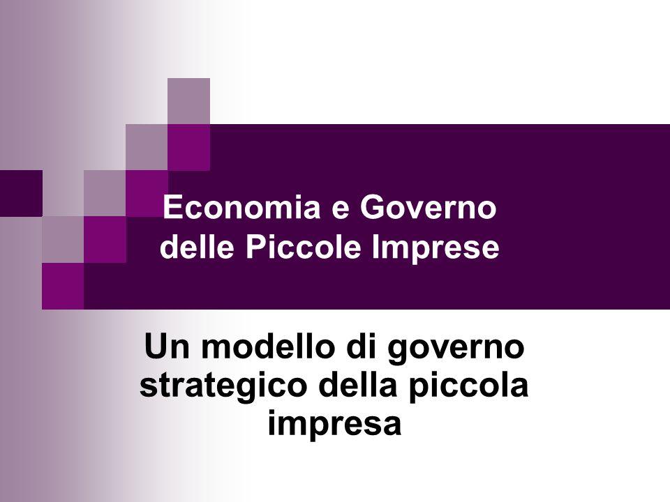 Economia e Governo delle Piccole Imprese Un modello di governo strategico della piccola impresa