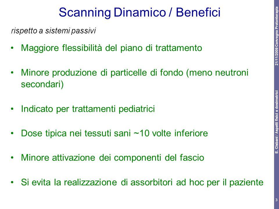 21/11/2009 Convegno Protonterapia E. Cisbani / Aspetti fisici e dosimetrici 3 Scanning Dinamico / Benefici Maggiore flessibilità del piano di trattame