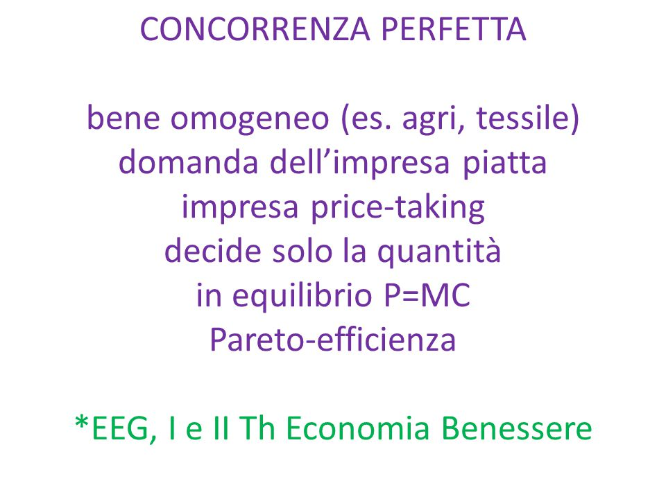 1. CURVA DI OFFERTA e EQUILIBRIO DI MERCATO Es. libro usato