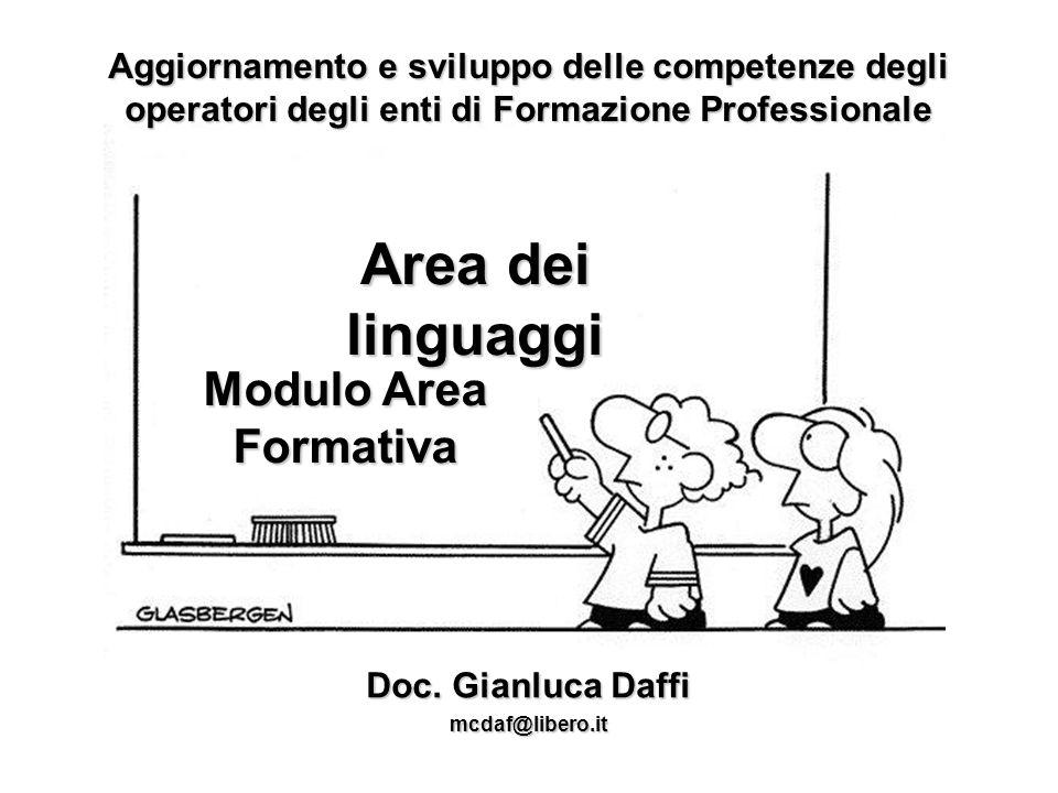 Aggiornamento e sviluppo delle competenze degli operatori degli enti di Formazione Professionale Modulo Area Formativa Doc.
