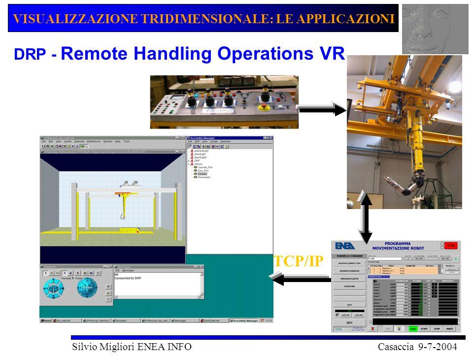VISUALIZZAZIONE TRIDIMENSIONALE: LE APPLICAZIONI Silvio Migliori ENEA INFO Casaccia 9-7-2004 COMBUSTIONE Visualizzazione di dati provenienti da simulazioni di combustione Dati formato TEC-PLOT