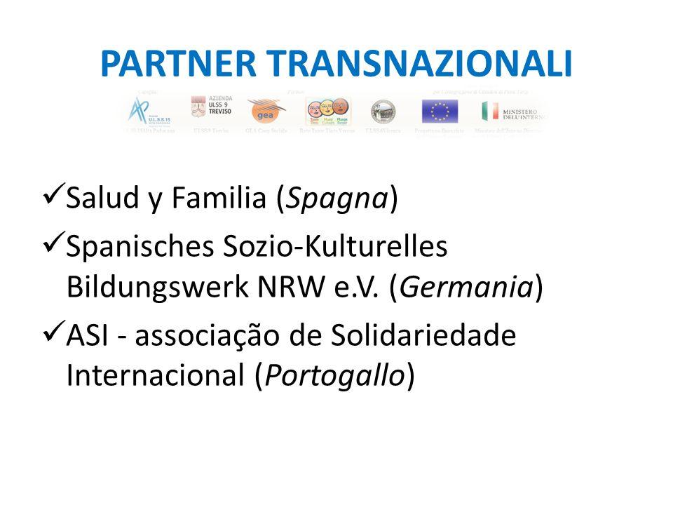 PARTNER TRANSNAZIONALI Salud y Familia (Spagna) Spanisches Sozio-Kulturelles Bildungswerk NRW e.V.