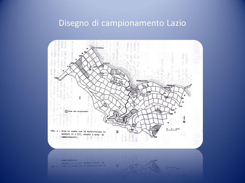 Disegno di campionamento Lazio