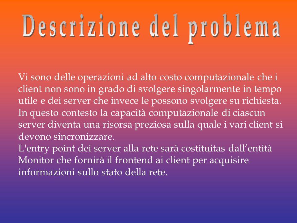 Vi sono delle operazioni ad alto costo computazionale che i client non sono in grado di svolgere singolarmente in tempo utile e dei server che invece le possono svolgere su richiesta.
