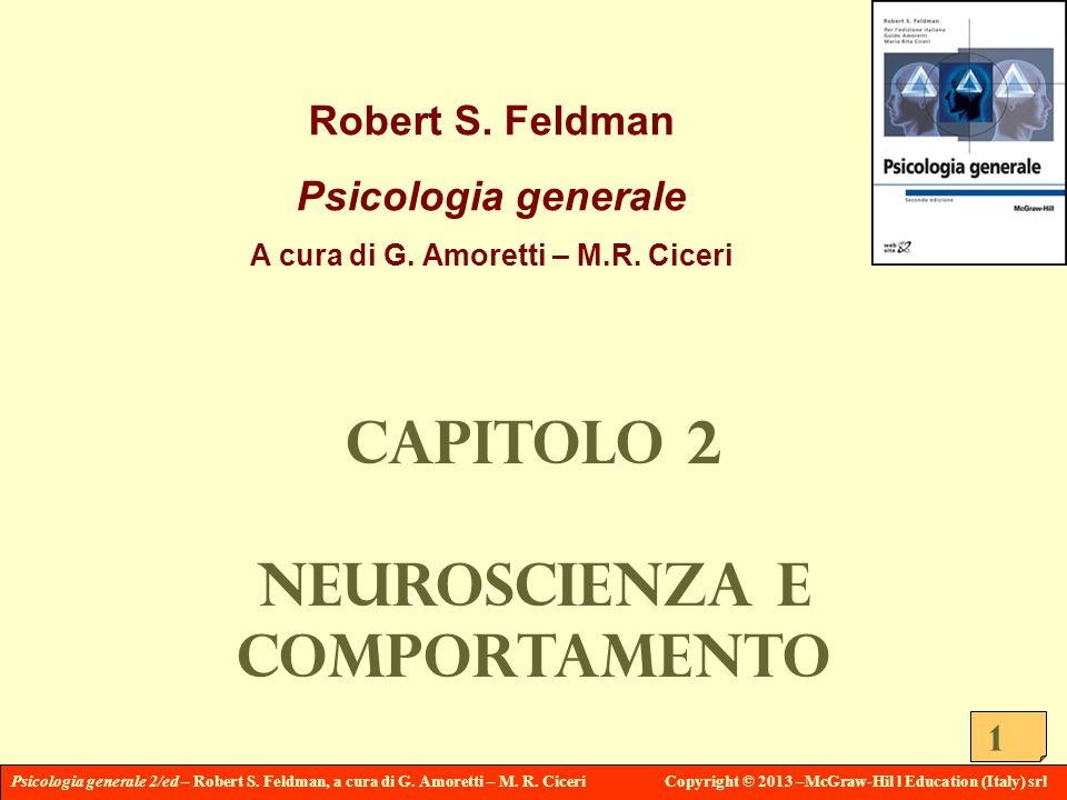 Psicologia generale 2/ed – Robert S. Feldman, a cura di G.