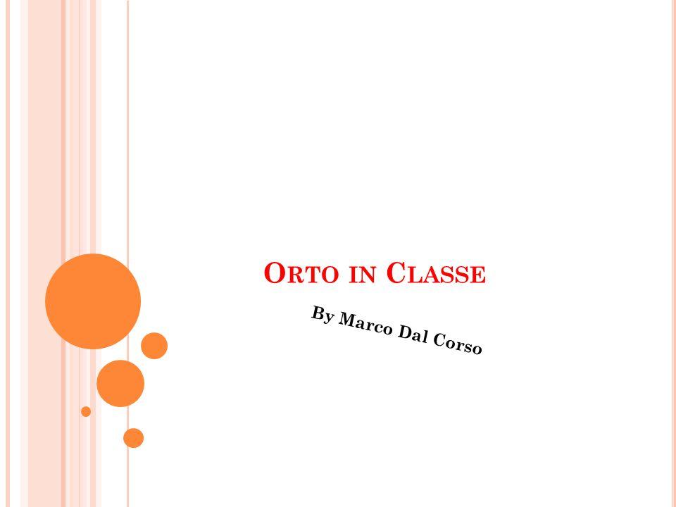 O RTO IN C LASSE By Marco Dal Corso
