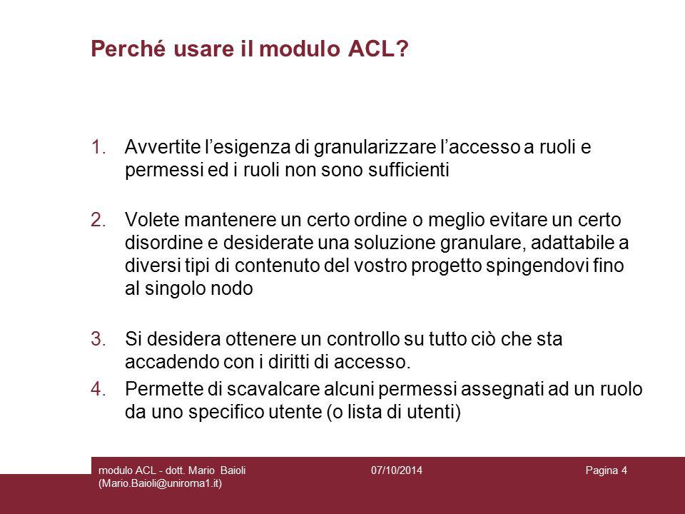 Ecco come iniziare con il modulo ACL Effettuare il download del modulo ACL e configurare tutti i diritti per il solo amministratore per il tipo di contenuto di cui desiderate restringere l'accesso.