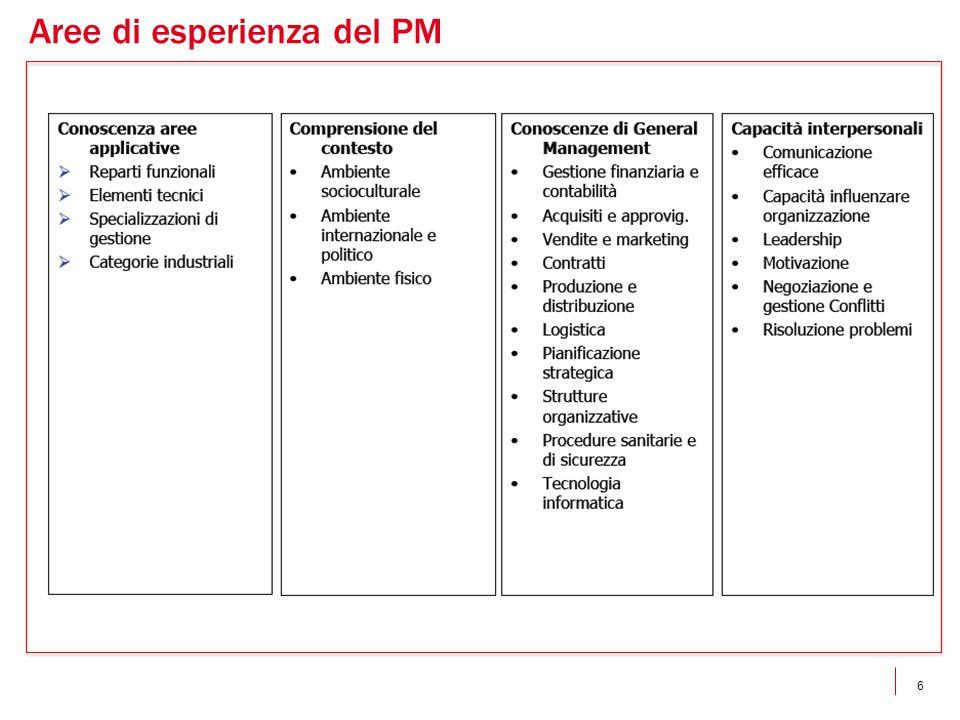 6 Aree di esperienza del PM