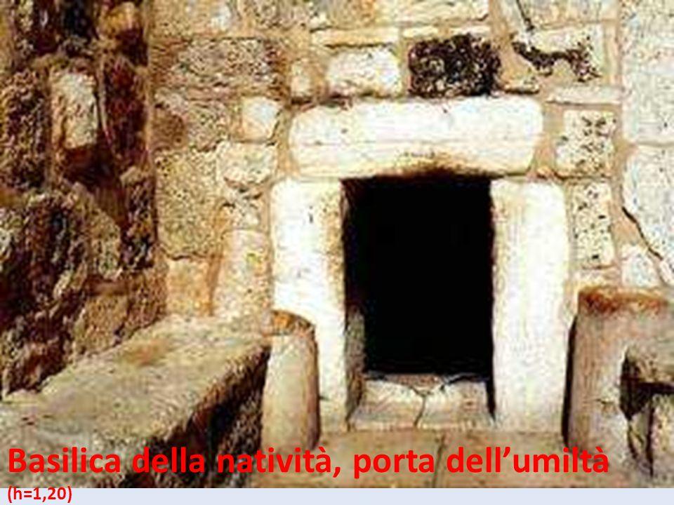Basilica della natività, porta dell'umiltà (h=1,20)