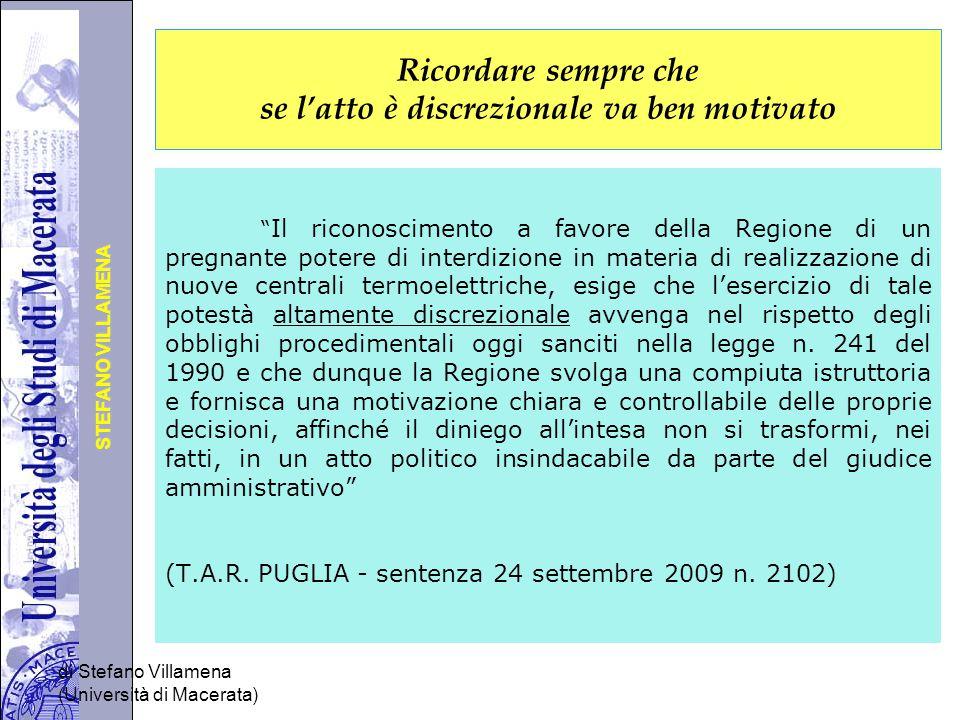 Università degli Studi di Perugia STEFANO VILLAMENA di Stefano Villamena (Università di Macerata) Parte finale del preambolo Visto e richiamato sono formule da utilizzare per il richiamo sintetico di tutte le norme applicate nella procedura e nel provvedimento finale