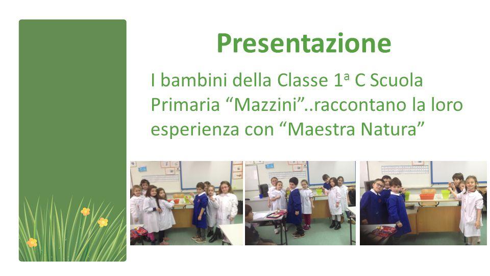 Presentazione I bambini della Classe 1 a C Scuola Primaria Mazzini ..raccontano la loro esperienza con Maestra Natura