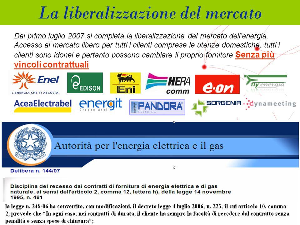 GRUPPO TELECOM ITALIA Dal primo luglio 2007 si completa la liberalizzazione del mercato dell'energia.
