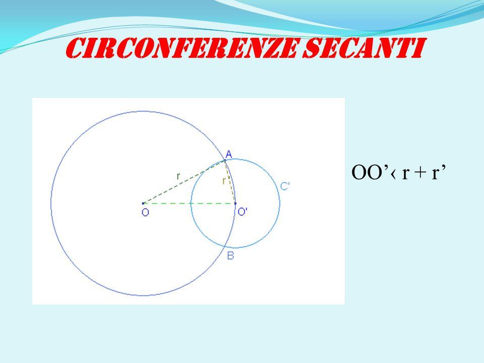 CIRCONFERENZE SECANTI OO'‹ r + r'