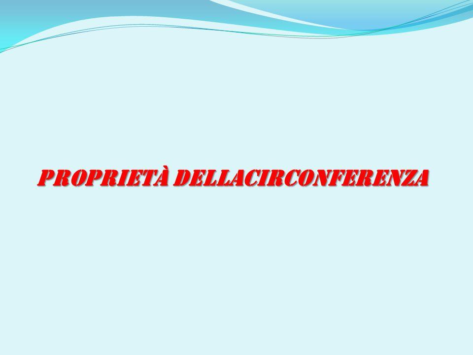 PROPRIETÀ DELLACIRCONFERENZA