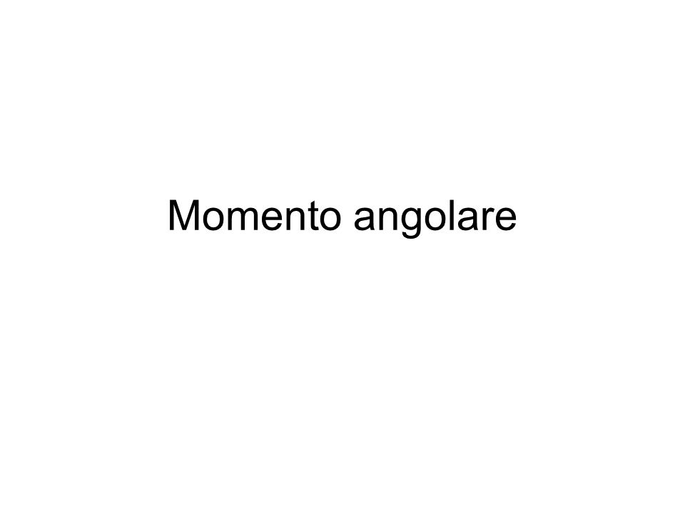 Momento angolare