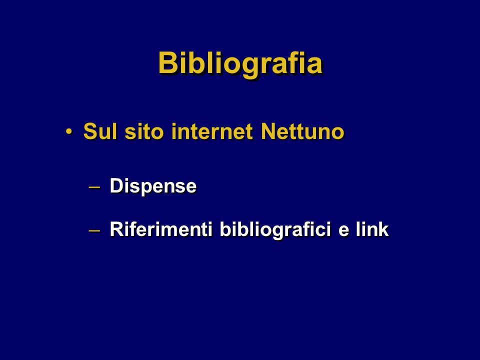 Sul sito internet Nettuno – Dispense – Riferimenti bibliografici e link Sul sito internet Nettuno – Dispense – Riferimenti bibliografici e link BibliografiaBibliografia