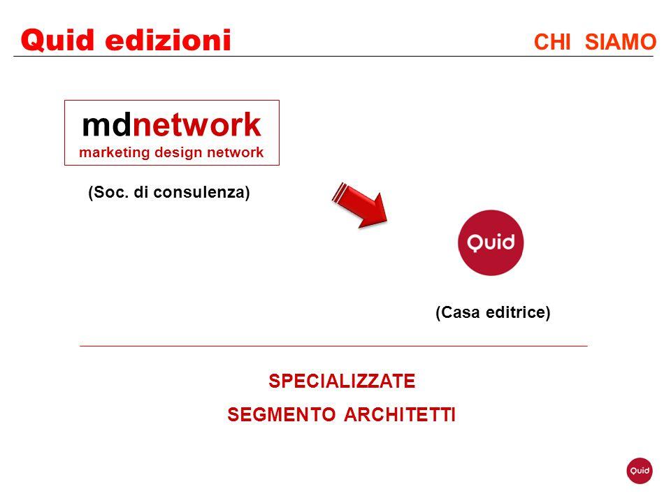 Quid edizioni CHI SIAMO (Casa editrice) SPECIALIZZATE SEGMENTO ARCHITETTI mdnetwork marketing design network (Soc. di consulenza)
