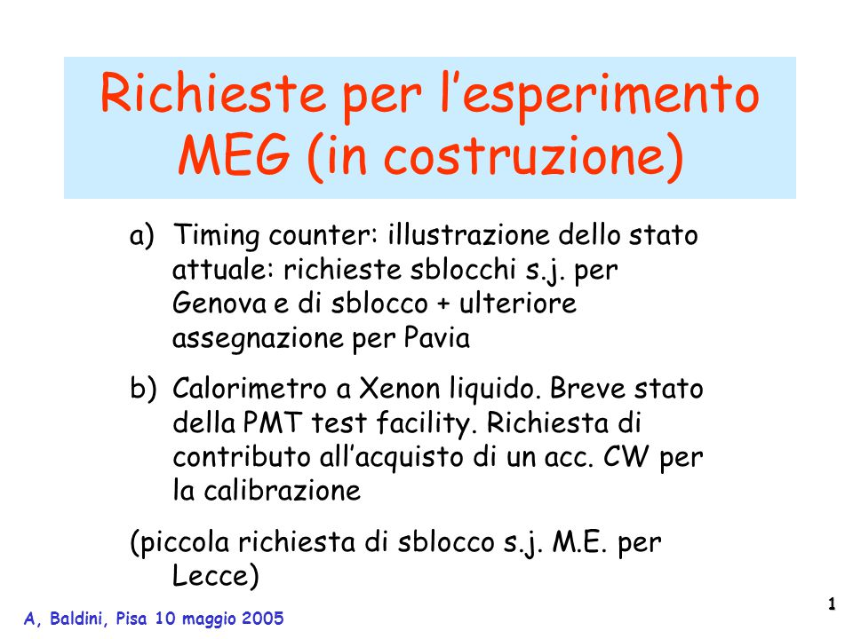 22 A, Baldini, Pisa 10 maggio 2005 large-prototype in the large-prototype the line is worse.....