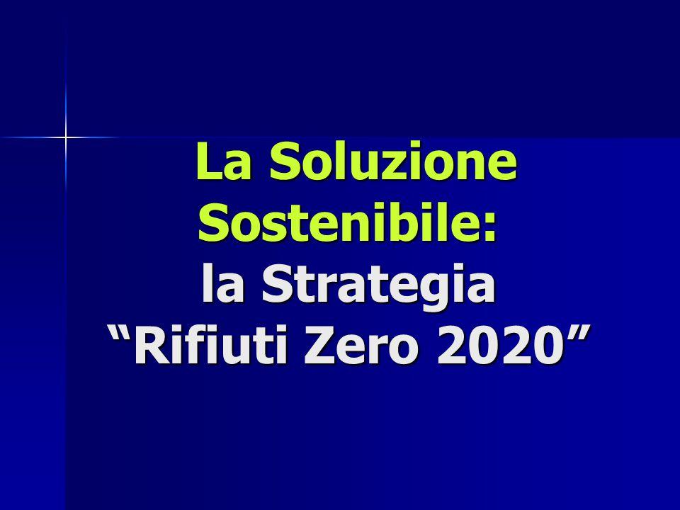 """La Soluzione Sostenibile: la Strategia """"Rifiuti Zero 2020"""" La Soluzione Sostenibile: la Strategia """"Rifiuti Zero 2020"""""""